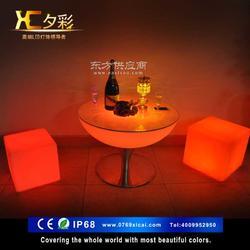 led酒吧桌椅 led发光桌子酒吧家具梅花桌椅图片