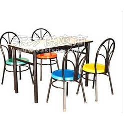 世佳专业生产最时尚的玻璃钢四人快餐连体桌椅图片