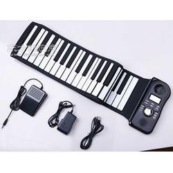 厂家直销手卷钢琴硅胶钢琴折叠式软钢琴图片