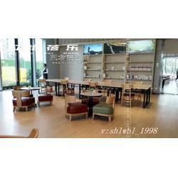 供应书吧桌椅新华书店实木桌椅厂家定制图片