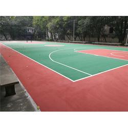 芙蓉篮球场施工-篮球场施工-绅道体育(优质商家)图片