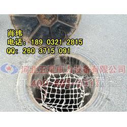 市政井盖防护网规格-定做 六角窨井防坠网厂家图片