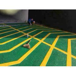 防滑坡道地坪划线-七星地坪漆(在线咨询)防滑坡道地坪图片