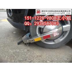 车轮锁锁住轮胎的设备图片
