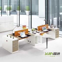 四人位办公桌加盟思进办公家具厂家图片