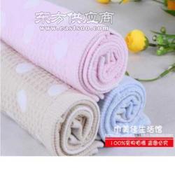 新品特价双层纯棉蜂窝纱布毛巾蜂巢圆点毛巾面巾图片