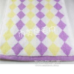 正品特价纯棉毛巾菱形纹礼品面巾图片
