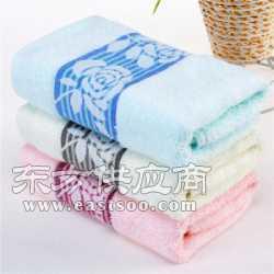 加厚竹纤维无捻纱乱花毛巾商超抗菌毛巾图片