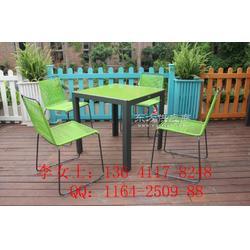 简约线条椅,藤编椅,餐饮庭院用休闲桌椅图片