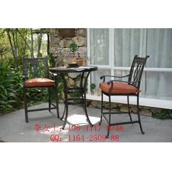 别墅阳台桌椅组合,铸铝桌椅,美式吧台吧椅图片