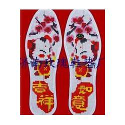 精準印花針孔鞋墊鞋墊十字繡圖案圖片