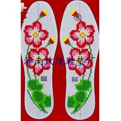 十字绣鞋垫厂针法红安绣法市场十字绣鞋垫图片