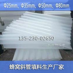 聚丙烯PP蜂窝斜管填料厂家报价35mm 50mm80mm六角蜂窝斜管图片