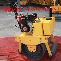 又是一款好压路机手推单滚轮压路机 小型柴油压路机获得市场认可图片