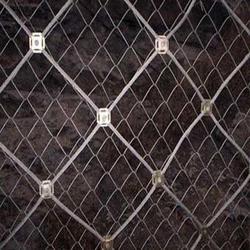 边坡钢丝绳网-钢丝绳网-澎程金属制品图片