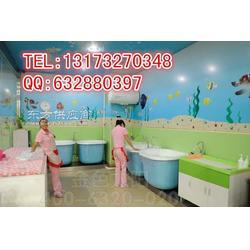 高端游泳馆专用精致四面光婴儿游泳池图片