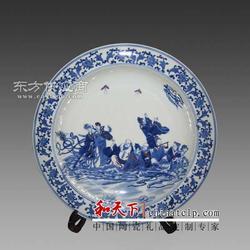 手绘青花瓷盘子图片