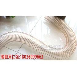 耐热PU钢丝波纹管 柔性PU吸尘管进口风机排风管图片