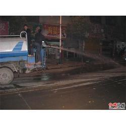广州荔湾区清洗路面台班|清洗路面|高压冲洗车道路台班图片