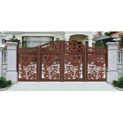 别墅庭院折叠悬浮门别墅栏杆合金铸铝花门图片
