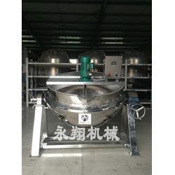 带搅拌夹层锅使用_诸城永翔机械(在线咨询)_云南带搅拌夹层锅图片