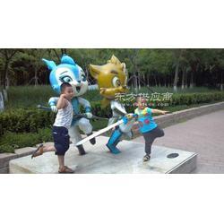 蓝猫雕塑 玻璃钢雕塑制作 模型雕塑制作厂家图片