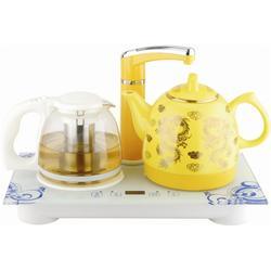 陶瓷电热水壶_陶瓷电热水壶茶具套装_中陶电器图片