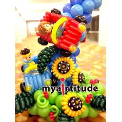 白水县商场活动策划、西安气球造型图片