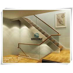 复式楼玻璃楼梯扶手效果图,武汉楼梯,洪山玻璃楼梯扶手效果图图片