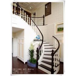 中式实木楼梯_江岸实木楼梯_实木楼梯扶手图片