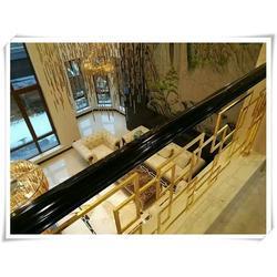 三层别墅楼梯效果图|新洲别墅楼梯|别墅楼梯扶手颜色图片
