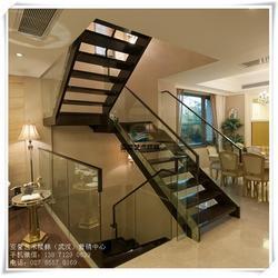 武昌钢木楼梯|室内钢木楼梯|双梁钢木楼梯图片