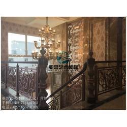 汉口别墅楼梯扶手定做、武汉亚誉艺术楼梯、别墅楼梯扶手图片