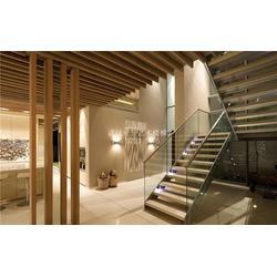 盘龙城双梁玻璃楼梯_武汉亚誉艺术楼梯_办公室双梁玻璃楼梯图片