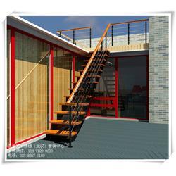 武汉亚誉艺术楼梯_家用钢木楼梯设计_武昌家用钢木楼梯图片