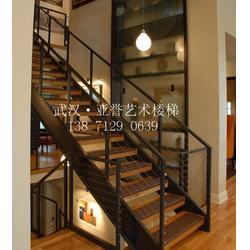 钢木楼梯厂家,钢木楼梯,黄梅钢木楼梯图片