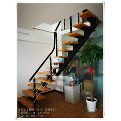 家用钢木楼梯、别墅钢木楼梯、洪山钢木楼梯图片