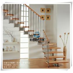 钢木楼梯造型|专业钢木楼梯|吴家山钢木楼梯图片