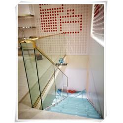 钢化玻璃楼梯、武汉亚誉玻璃楼梯、东西湖玻璃楼梯图片