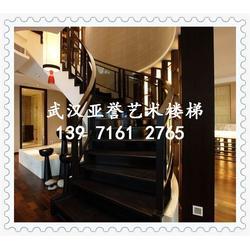 武汉实木楼梯|亚誉楼梯|实木楼梯生产图片