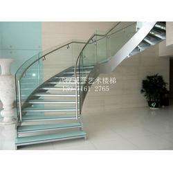 吴家山玻璃楼梯、玻璃楼梯扶手、别墅玻璃楼梯图片