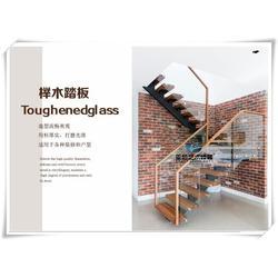 弧形旋转玻璃楼梯|武穴玻璃楼梯|武汉亚誉艺术楼梯图片
