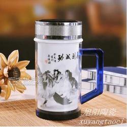 礼品陶瓷纪念盘定做陶瓷保温杯图片