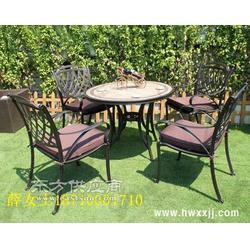 铸铝户外休闲桌椅图片