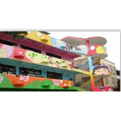 幼兒園墻體噴畫、藝裝飾設計工程、湛江墻體噴畫圖片