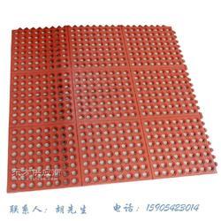 带锁扣排水胶垫海鲜市场专用防滑橡胶地垫图片