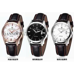 韩版时装镶钻机械真皮女士手表奢华时尚机械女士表图片