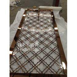 大厅屏风装饰 钛金不锈钢屏风隔断生产厂家图片