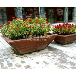 中式防腐木花箱-花箱款式多样混搭-花箱厂家振兴景观图片