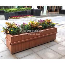 市政塑木花箱-道路花箱栏杆-木质花箱厂家振兴景观图片